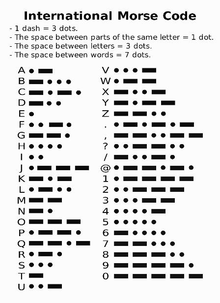 international morse codice